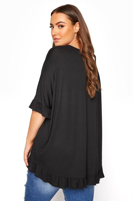 LIMITED COLLECTION Black Frill Jersey T-Shirt_C.jpg