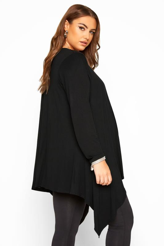 BUMP IT UP MATERNITY Black Waterfall Cardigan