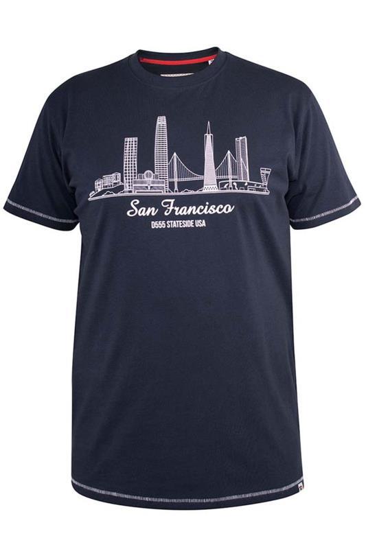 D555 Navy 'San Francisco' Slogan Graphic Print T-Shirt
