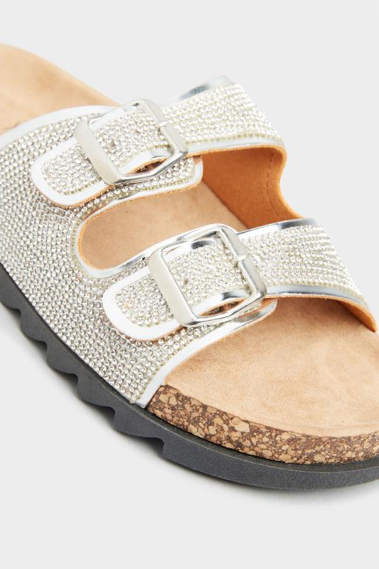 Silver Sparkle Footbed Sandal In Wide Fit_E.jpg