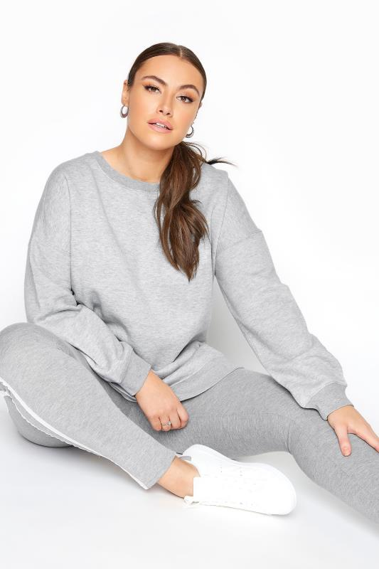 LIMITED COLLECTION Grey Cotton Jersey Sweatshirt