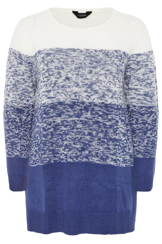 Pullover im Color-Block-Design - Blau/Weiß