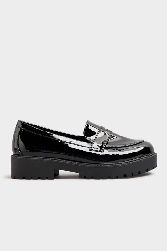 Black Patent Chunky Loafers In Extra Wide Fit_B.jpg