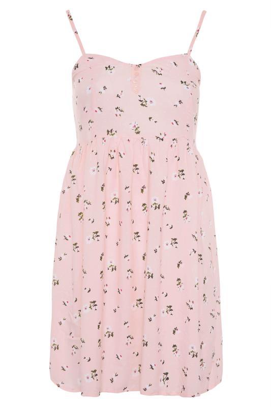 Pink Ditsy Floral Strappy Dress_F.jpg