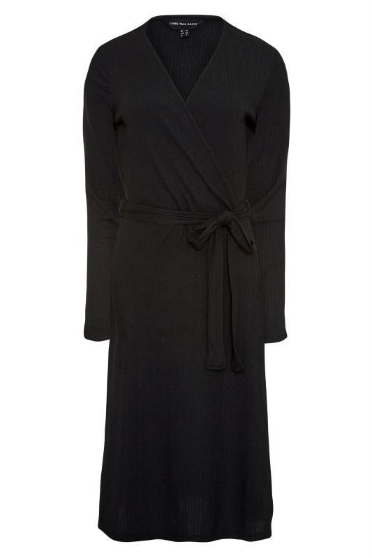 LTS Black Textured Wrap Dress_F.jpg