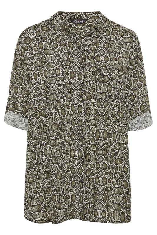 LIMITED COLLECTION Green Snake Print Boyfriend Shirt