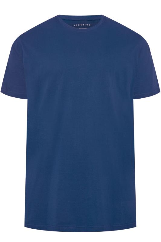 Plus Size Casual / Every Day BadRhino Royal Blue Embroidered Logo T-Shirt