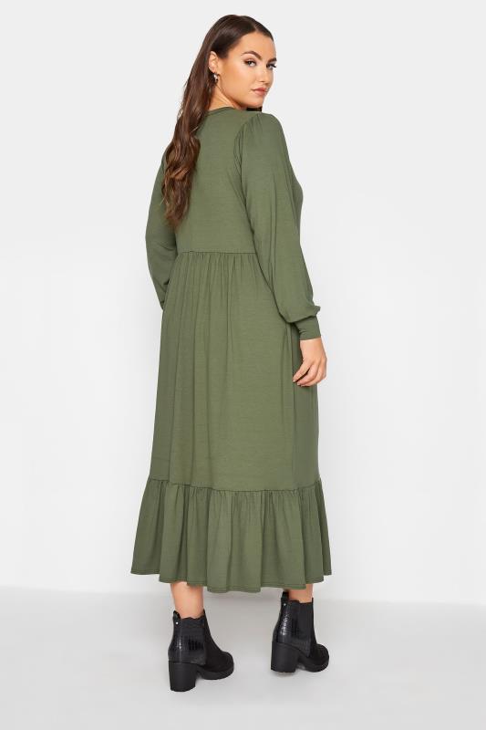 LIMITED COLLECTION Khaki Smock Midi Dress_C.jpg