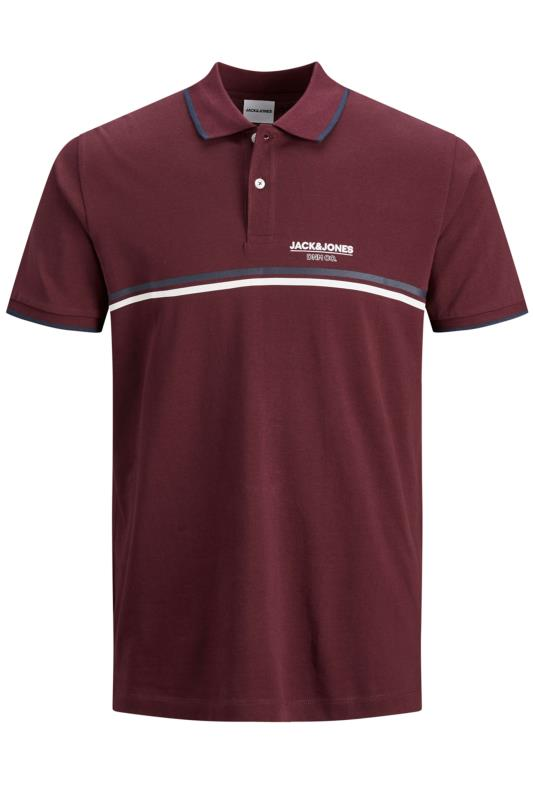 JACK & JONES Burgundy Shaker Polo Shirt