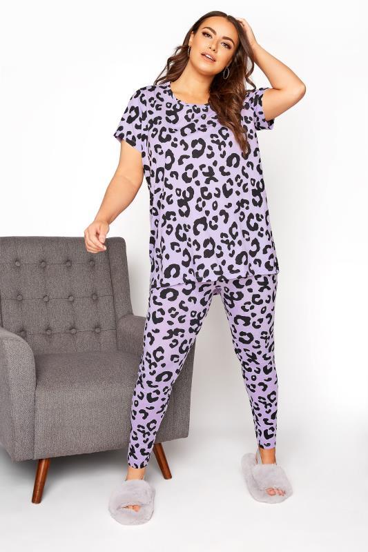 Purple Oversized Animal Print Pyjama Set_B.jpg
