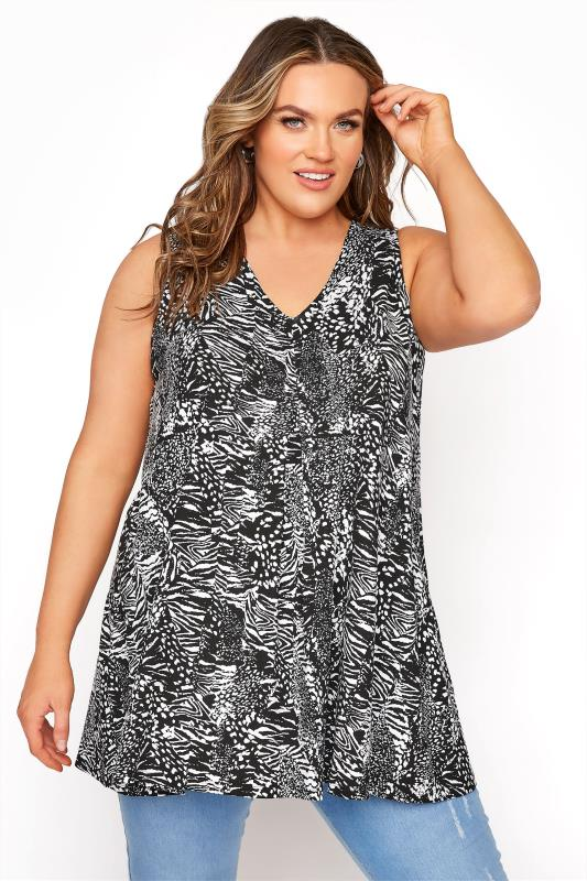 Black Animal Print Swing Vest Top_A.jpg