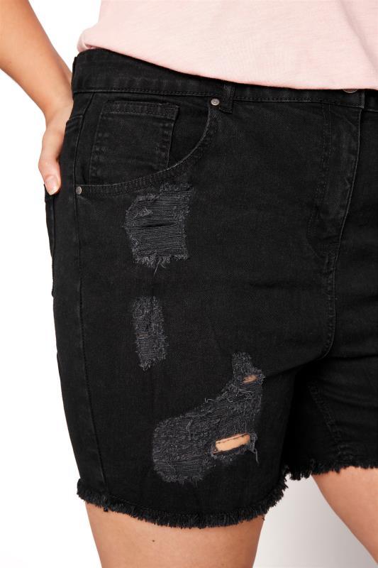 Black Ripped Denim Mom Shorts_D.jpg