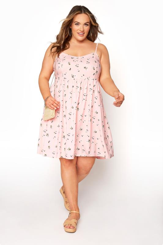 Pink Ditsy Floral Strappy Dress_B.jpg