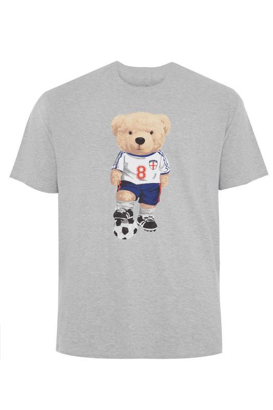 Men's  Grey Marl England Bear T-Shirt