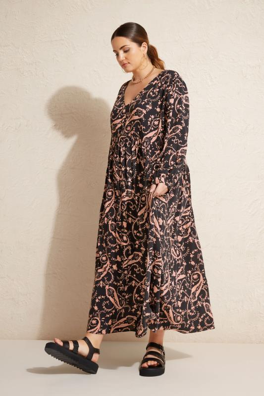THE LIMITED EDIT Black Paisley Boho Maxi Dress_L.jpg