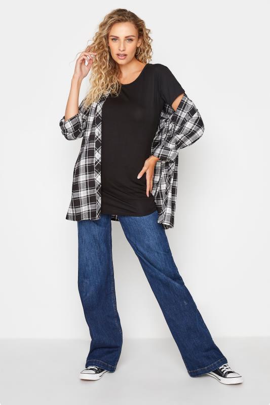 LTS Black Scoop Neck T-Shirt_B.jpg