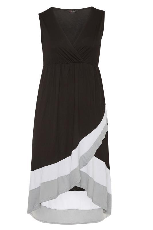 Black Colour Block Plunge Wrap Midaxi Dress_f.jpg