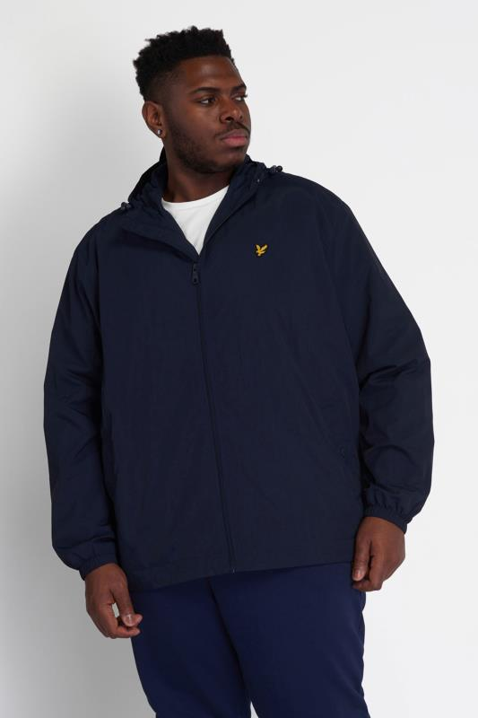LYLE & SCOTT Navy Zip Through Hooded Jacket