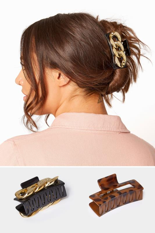 Yours 2 PACK Gold Chain & Tortoiseshell Hair Clip