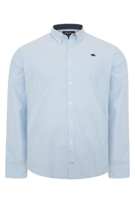 Plus Size  RAGING BULL Blue Signature Oxford Shirt