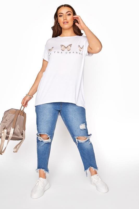 LIMITED COLLECTION White 'Be the Change' Butterfly T-Shirt