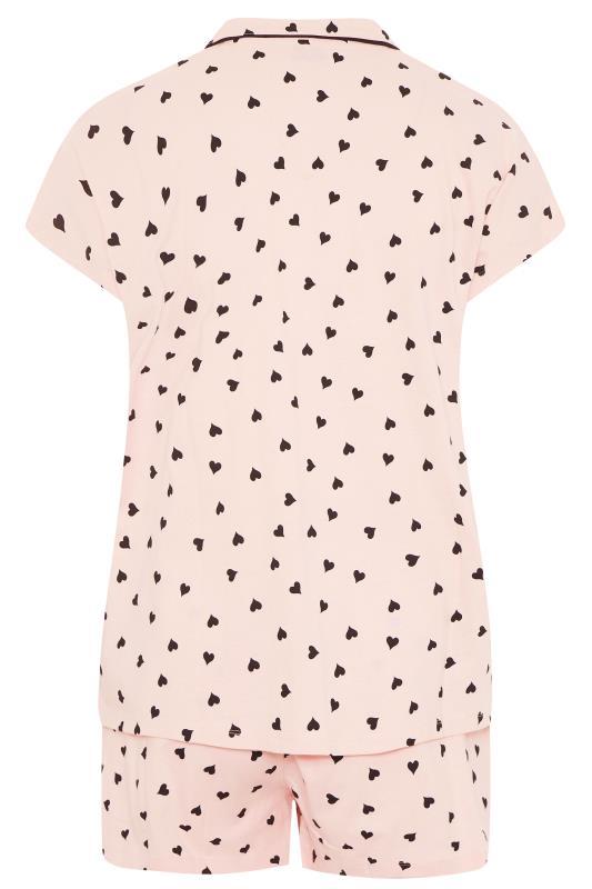 Pink Heart Print Collar Pyjama Set_BK.jpg