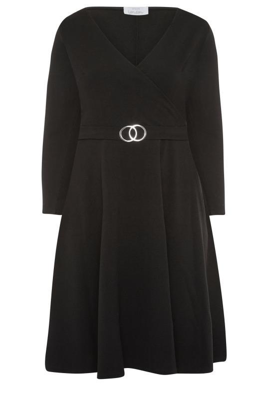 YOURS LONDON Black Wrap Midi Dress_F.jpg