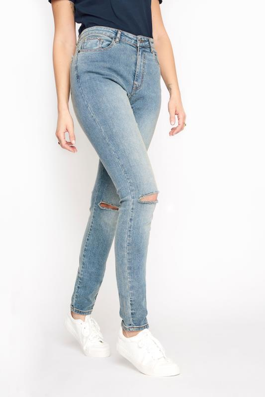 Tall  LTS Light Blue Vintage Ripped AVA Skinny Jeans