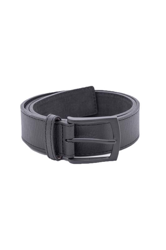 Men's  D555 Black Buckled Belt