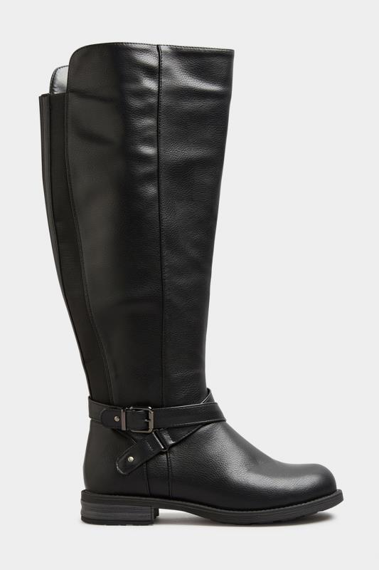 Black Faux Leather Knee High Boots In Extra Wide Fit_A.jpg