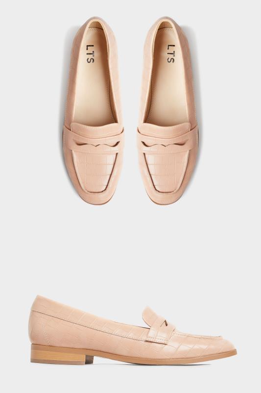 LTS Nude Slip On Croc Loafer