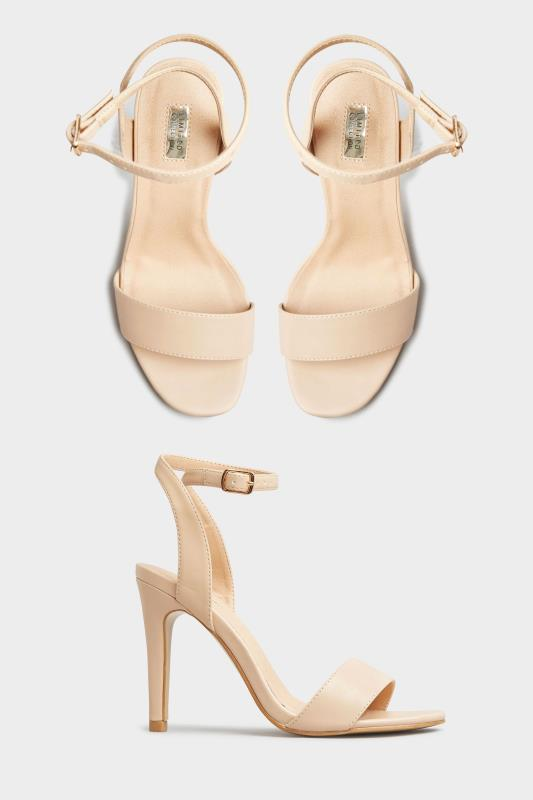 LIMITED COLLECTION Nude Strappy Two Part Heels In Extra Wide Fit_split.jpg