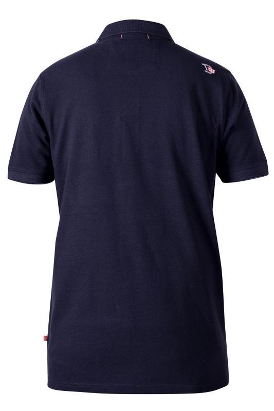 D555 Navy Nautical Emblem Short Sleeve Polo Shirt