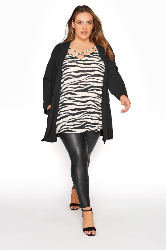 LIMITED COLLECTION Cream & Black Zebra Strappy Swing Cami_B.jpg
