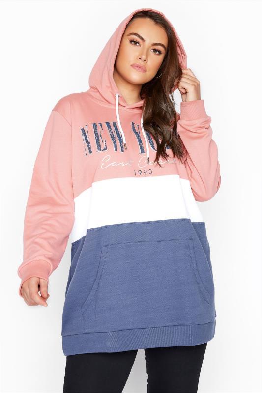 Pink Colour Block New York Hoodie_D.jpg