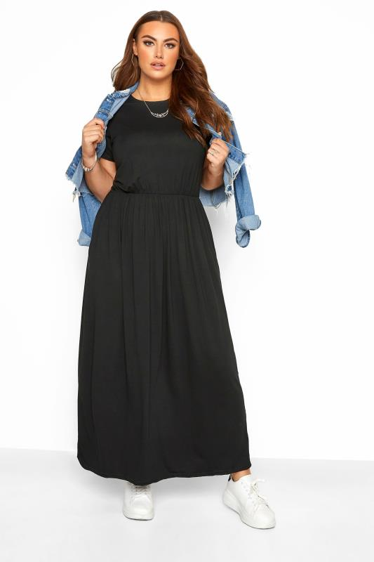 Black Dresses YOURS LONDON Black Pocket Maxi Dress