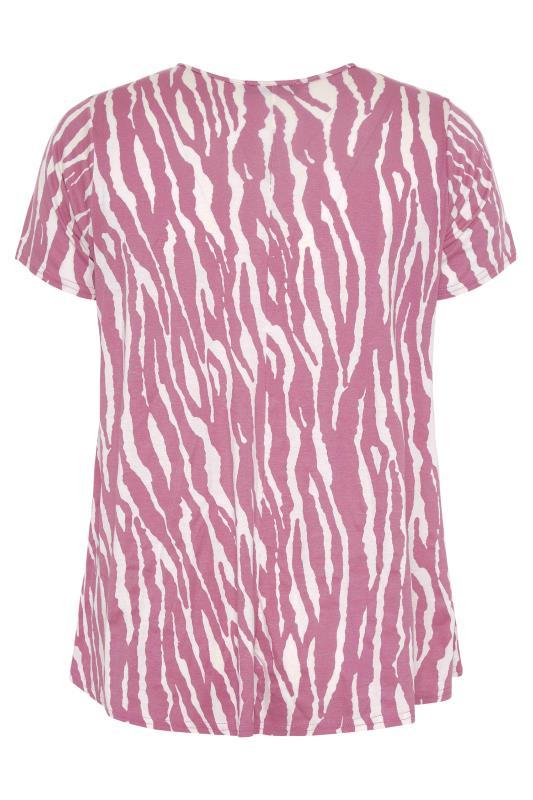 LIMITED COLLECTION Pink Zebra Print Swing Top_BK.jpg