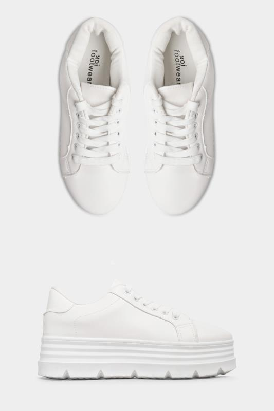 LIMITED COLLECTION White Platform Chunky Trainers In Regular Fit_split.jpg
