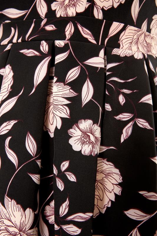 Black Floral Print Skater Midi Dress_S.jpg