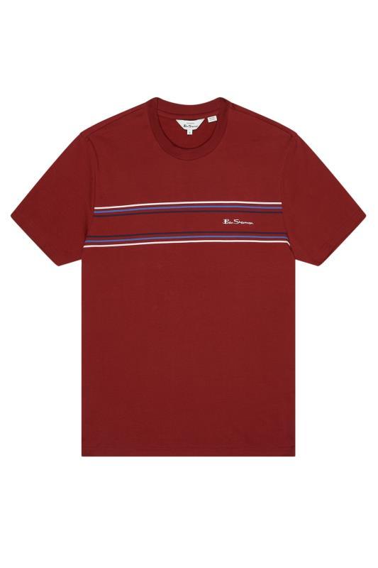 Plus Size  BEN SHERMAN Red Chest Stripe Logo T-Shirt