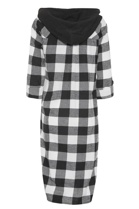 LTS Black Check Longline Hooded Shirt_BK.jpg