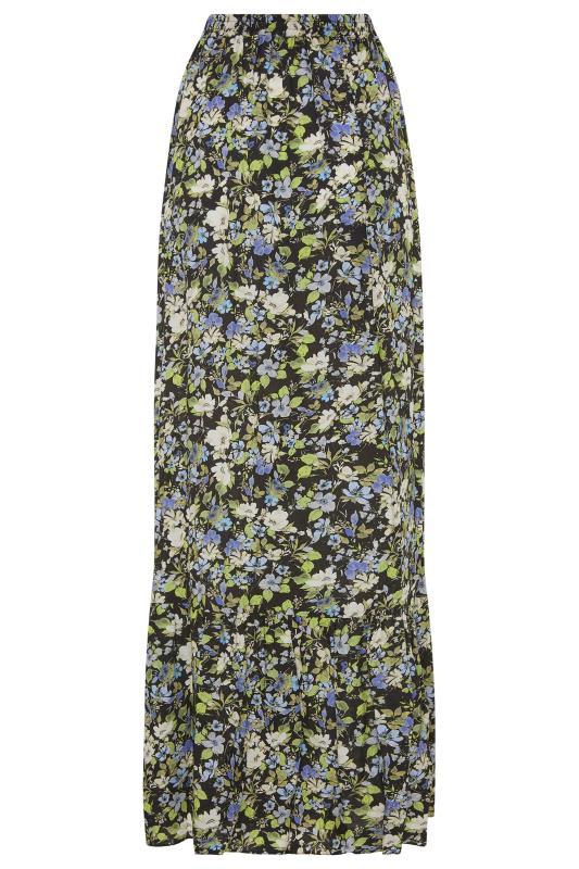 LTS Black Floral Print Maxi Skirt_BK.jpg