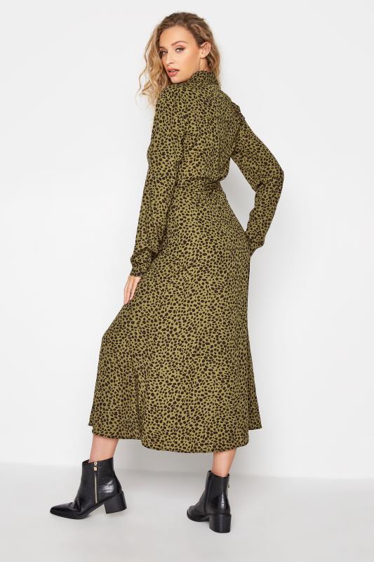 LTS Khaki Animal Print Shirt Midi Dress_C.jpg