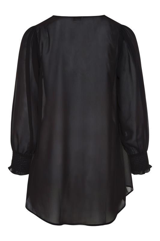 YOURS LONDON Black Balloon Sleeve Shirt_BK.jpg