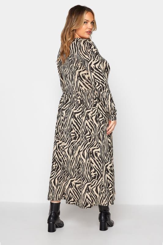 LIMITED COLLECTION Beige Zebra Print Smock Midaxi Dress_C.jpg