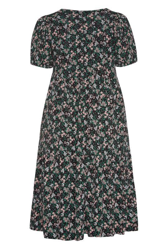 Black Floral Puff Sleeve Midaxi Dress_BK.jpg