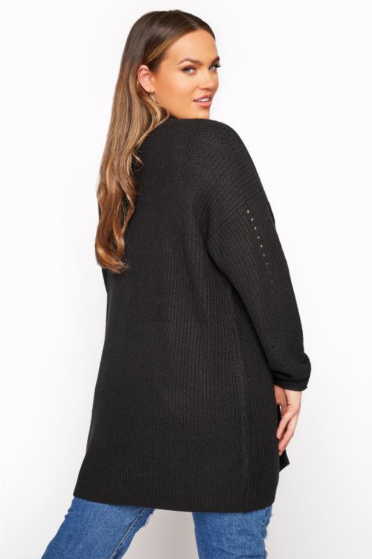Black Knitted Pointelle Cardigan_C.jpg
