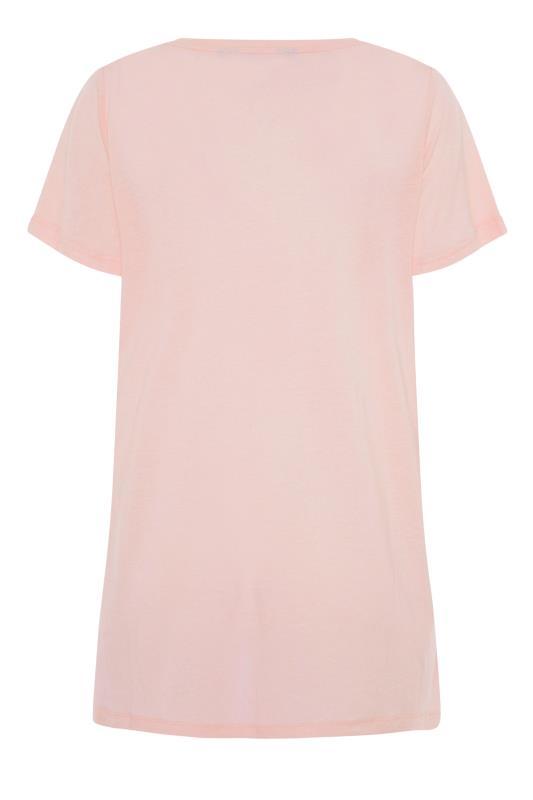 LTS Pink Linen Blend V-Neck T-Shirt_BK.jpg
