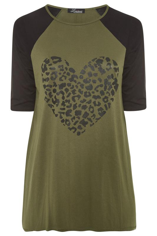 LIMITED COLLECTION Khaki Leopard Heart Top_F.jpg