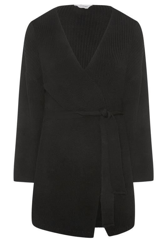 Black Wide Sleeve Belted Cardigan_F.jpg
